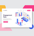 landing page template engagement rate vector image vector image
