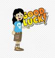 male cartoon character good luck theme vector image