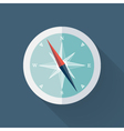 Mint Compass flat icon over blue vector image vector image