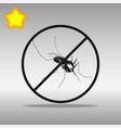 mosquito ban black icon button logo symbol vector image