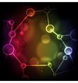 Neon Molecule Background vector image