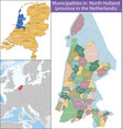 north holland is a province netherlands vector image vector image
