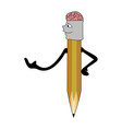 pen with a brain icon vector image