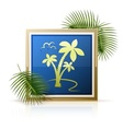 picture tropic palm vector image vector image
