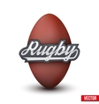 Premium Rugby label vector image vector image