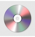 Realistic cd icon Design template vector image vector image