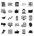 reciprocality icons set simple style vector image vector image