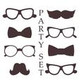 Retro party set vector image