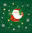 seamless pattern with santa claus holiday vector image