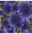 Seamless violet flowers vector image vector image
