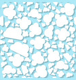 seamless white origami pattern with clouds vector image