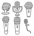 set microphone vector image