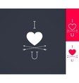Set of i love you hipster design with heart vector image vector image