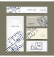Sketch of apartment Business cards for your design vector image vector image