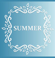 summer design with floral pattern on a blue vector image