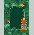 summer tropical background design vector image vector image