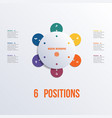 template flower colorful infographics 6 positions vector image vector image