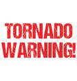 tornado warning sign weather alert typo header vector image vector image