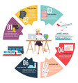travel concept infographic woman sitting at the vector image vector image