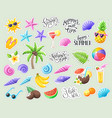 tropical summer stickers vector image