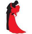 valentine hugs vector image vector image