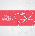 valentines day greeting with hearts vector image vector image