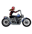 women riding chopper motorcycle vector image