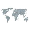 worldwide atlas mosaic of death skull tag items vector image vector image