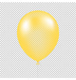 yellow balloon isolated vector image vector image