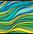 color hand-drawing seamless wave sea background vector image