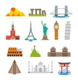 Famous architecture world travel landmarks vector image