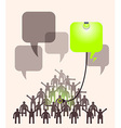 Crowd of people expressing special idea with vector image