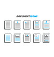 10 modern 3d styled document icons vector image vector image