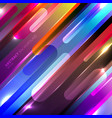 abstract colorful glowing geometric rounded vector image vector image