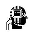artificial interlligence - ai - human head - vector image vector image
