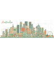 australia city skyline with color buildings vector image