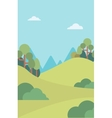 Background of mountain landscape vector image vector image
