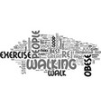 best exercise for obese people text word cloud vector image vector image