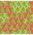 Big fresh apple pattern vector image vector image