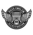 biker emblem vector image