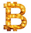bitcoin symbol virtual money vector image vector image