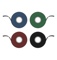 Blue green red black insulation tape set vector image