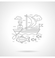 Boating detailed line vector image vector image
