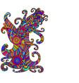 bright ethnic multicolored pattern decorative vector image vector image