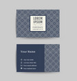 business card art deco design template 05 vector image vector image