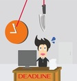 Businessman Time Deadline vector image vector image