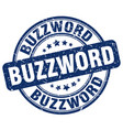 buzzword blue grunge stamp vector image vector image