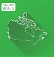 canada linear map icon business cartography vector image