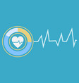 cardiogram icon heartbeat logotype clinic vector image