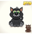 Cartoon Black Cat Character vector image